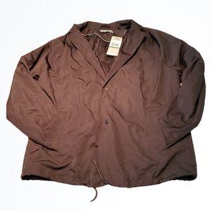 Kenneth Cole Reaction Black Utility Jacket Size L